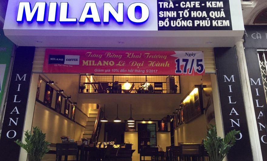 Chi phí mở quán cà phê Milano nhượng quyền bao nhiêu tiền?